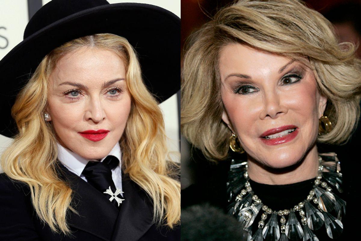 Madonna, Joan Rivers      (Reuters/Danny Moloshok/Molly Riley)