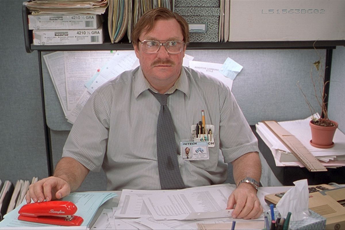 """Stephen Root as Milton Waddams in """"Office Space"""""""
