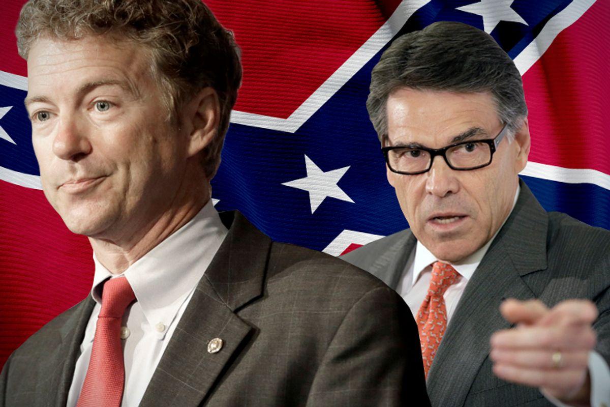 Rand Paul, Rick Perry         (AP/Reed Saxon/Salon)