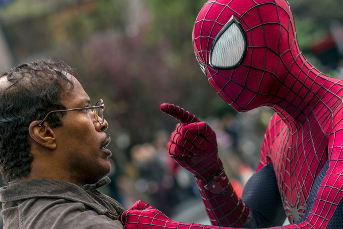 """Jamie Foxx and Andrew Garfield in """"The Amazing Spider-Man 2""""    (Columbia Pictures/Niko Tavernise)"""