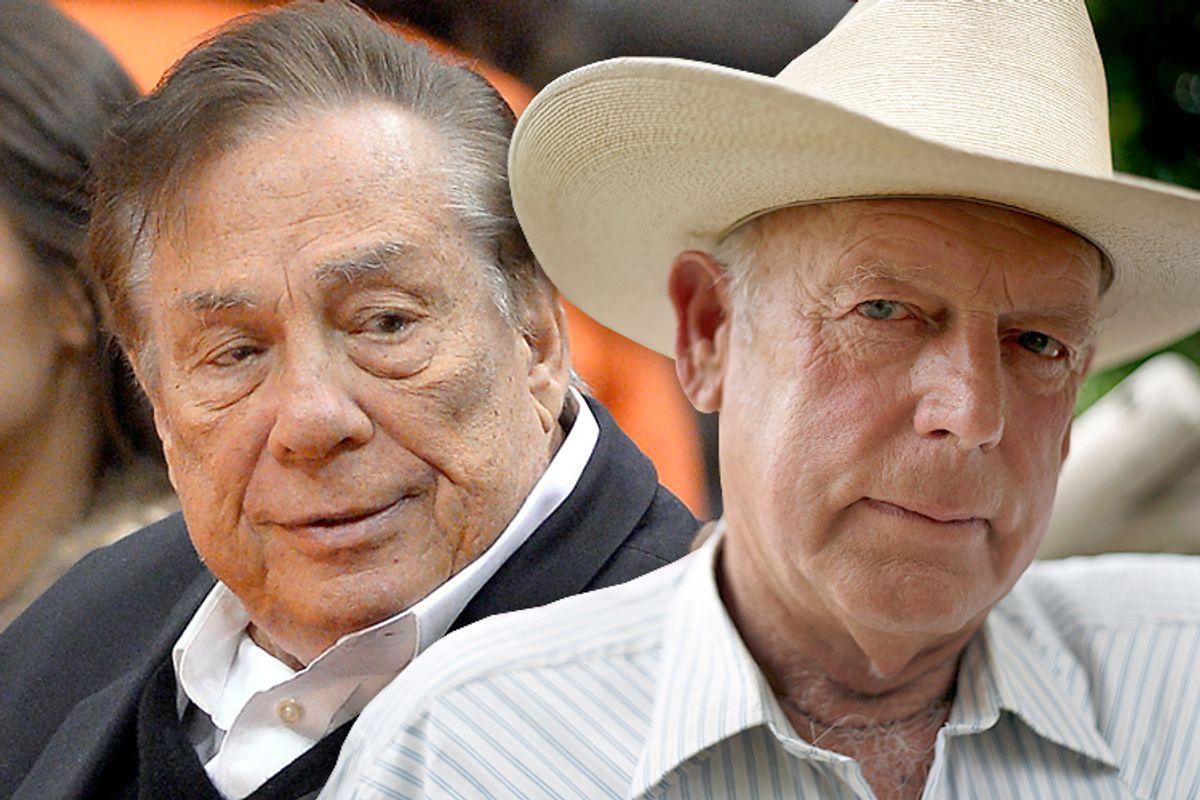 Donald Sterling, Cliven Bundy             (AP/Mark J. Terrill/Reuters/Jim Urquhart/photo collage by Salon)