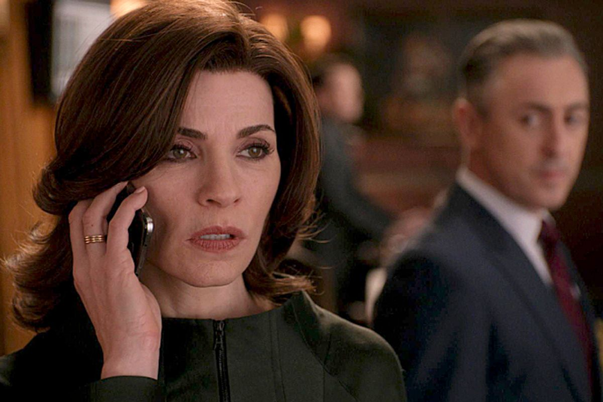 """Julianna Margulies and Alan Cumming in """"The Good Wife""""      (CBS/Eli Gold)"""