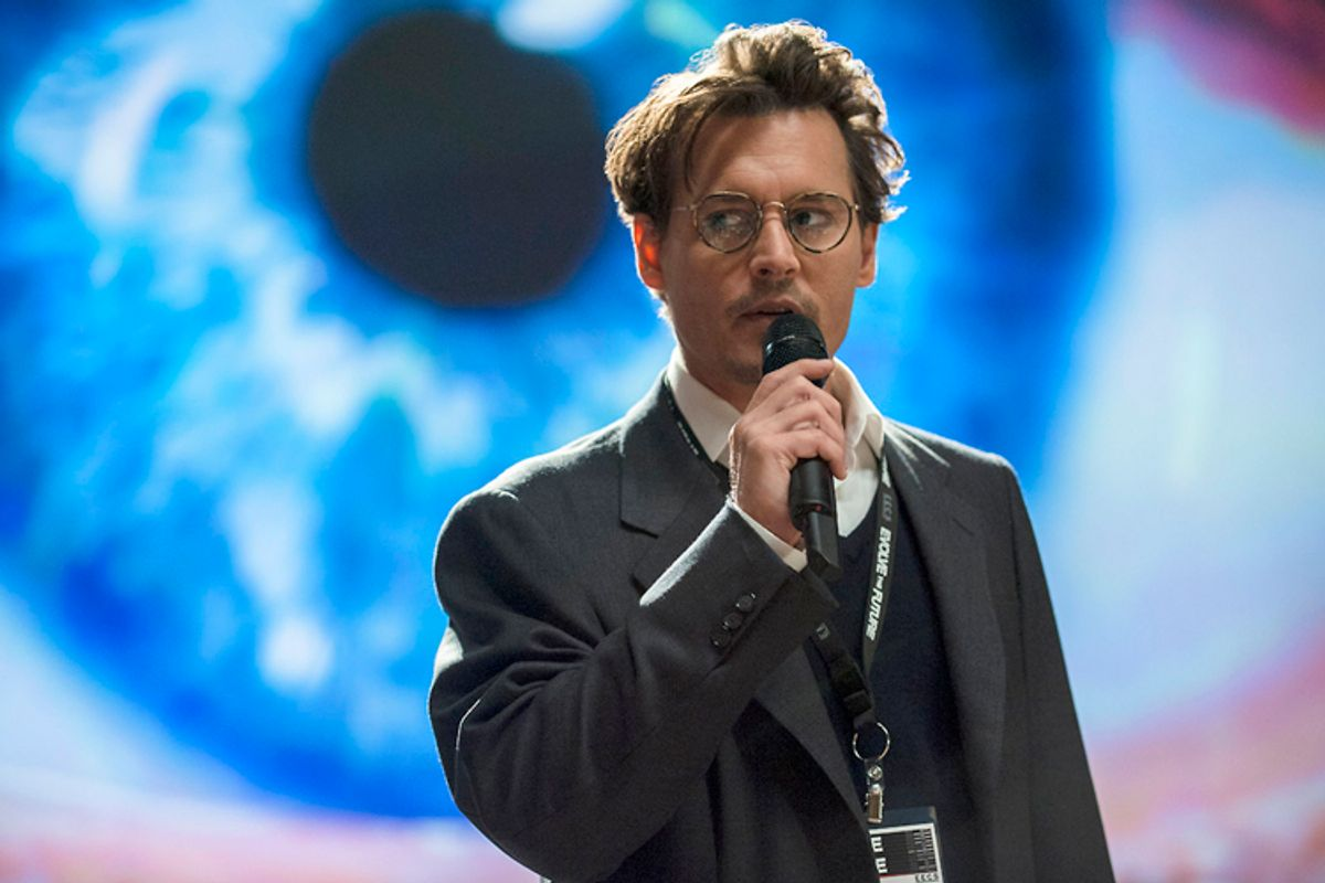 """Johnny Depp in """"Transcendence""""    (Alcon Entertainment/Peter Mountain)"""