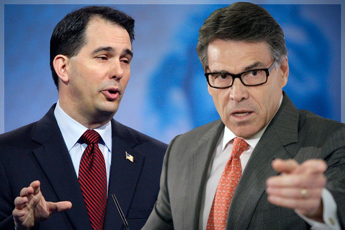 Scott Walker, Rick Perry                (Reuters/Jonathan Ernst/AP/Reed Saxon)