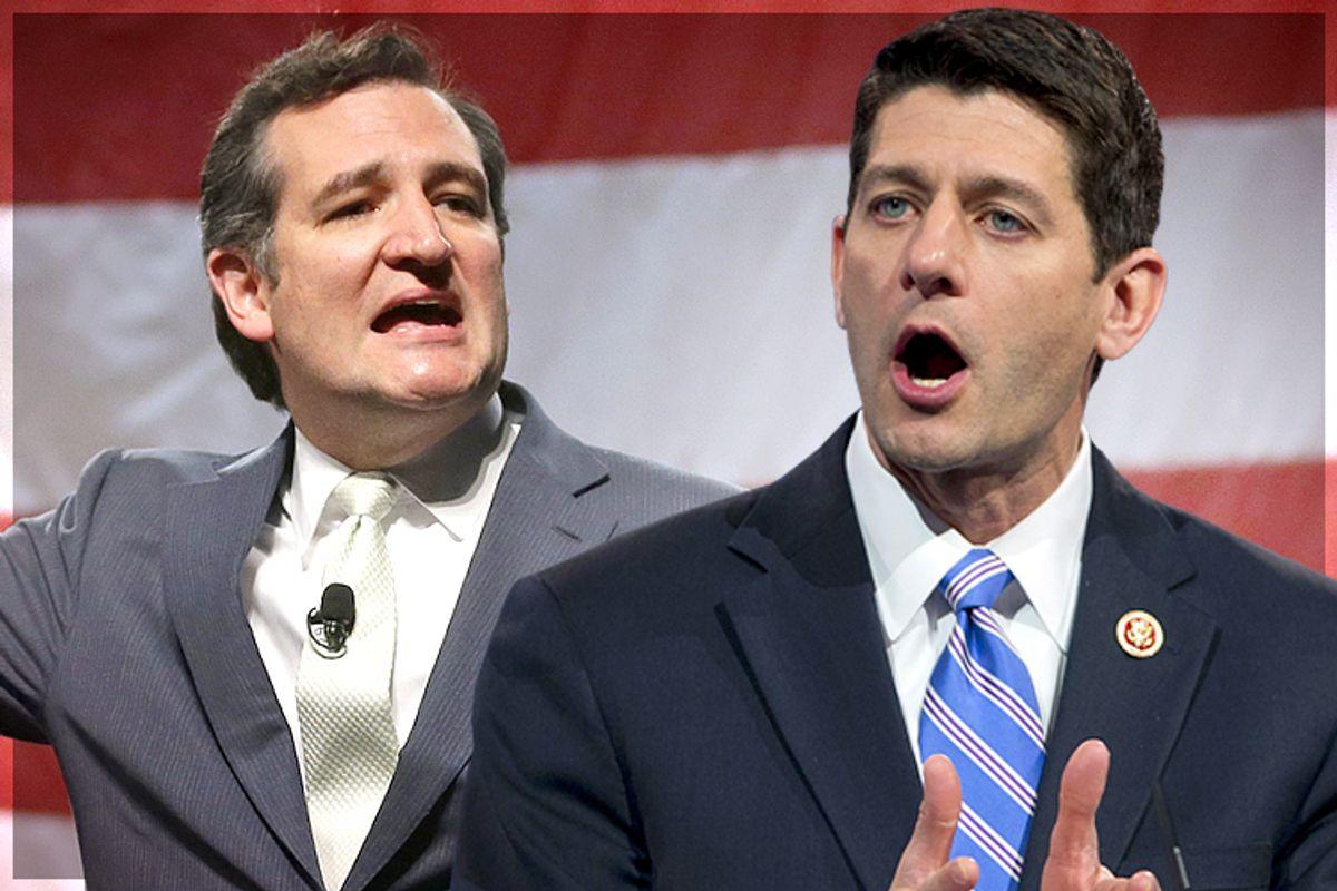 Ted Cruz, Paul Ryan               (AP/Rick Bowmer/Manuel Balce Ceneta/Photo collage by Salon)