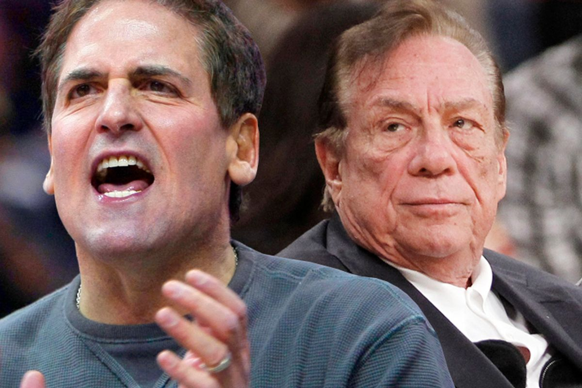 Mark Cuban, Donald Sterling         (AP/Tony Dejak/Danny Moloshok/photo collage by Salon)