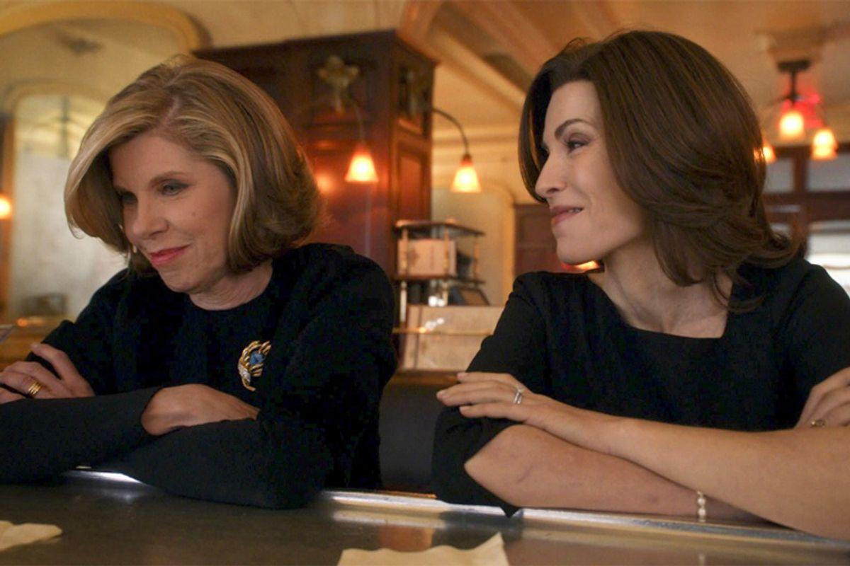 "Christine Baranski and Julianna Margulies in ""The Good Wife""    (CBS)"