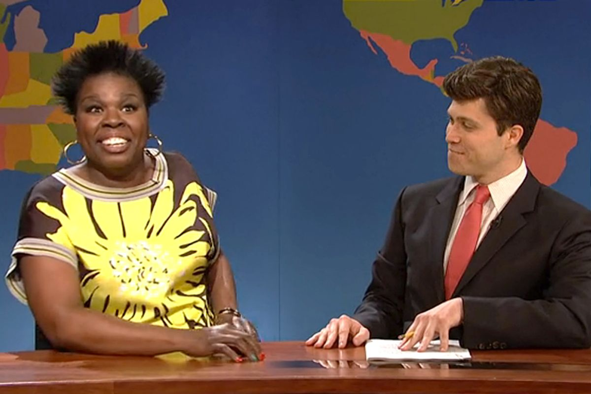 "Leslie Jones, Colin Jost on ""Saturday Night Live""     (NBC)"
