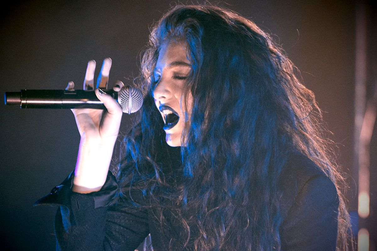 New Zealand singer-songwriter Lorde performs in concert at Roseland on Monday, March 10, 2014, in New York. (Photo by Evan Agostini/Invision/AP)    (Evan Agostini)