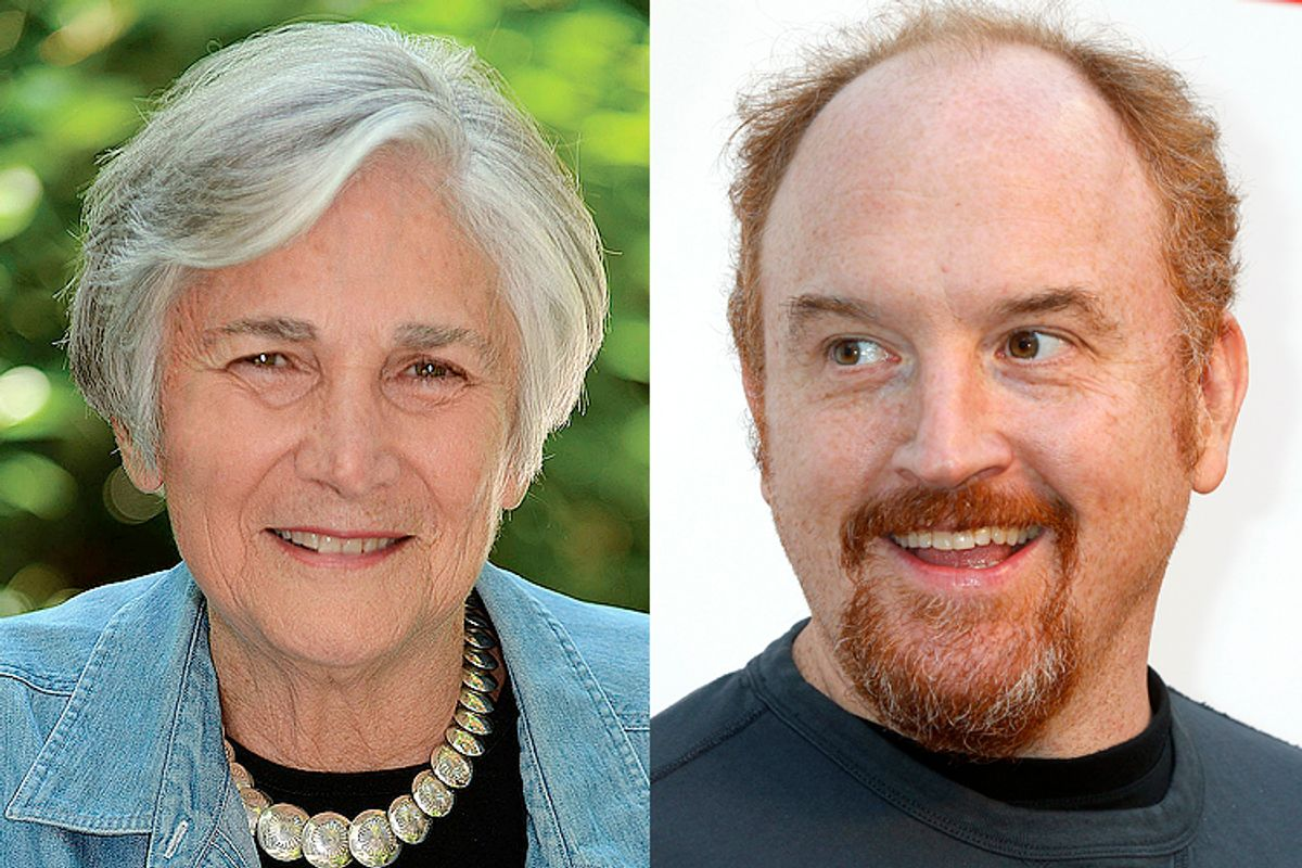 Diane Ravitch, Louie C.K.      (Knopf/Reuters/Fred Prouser)