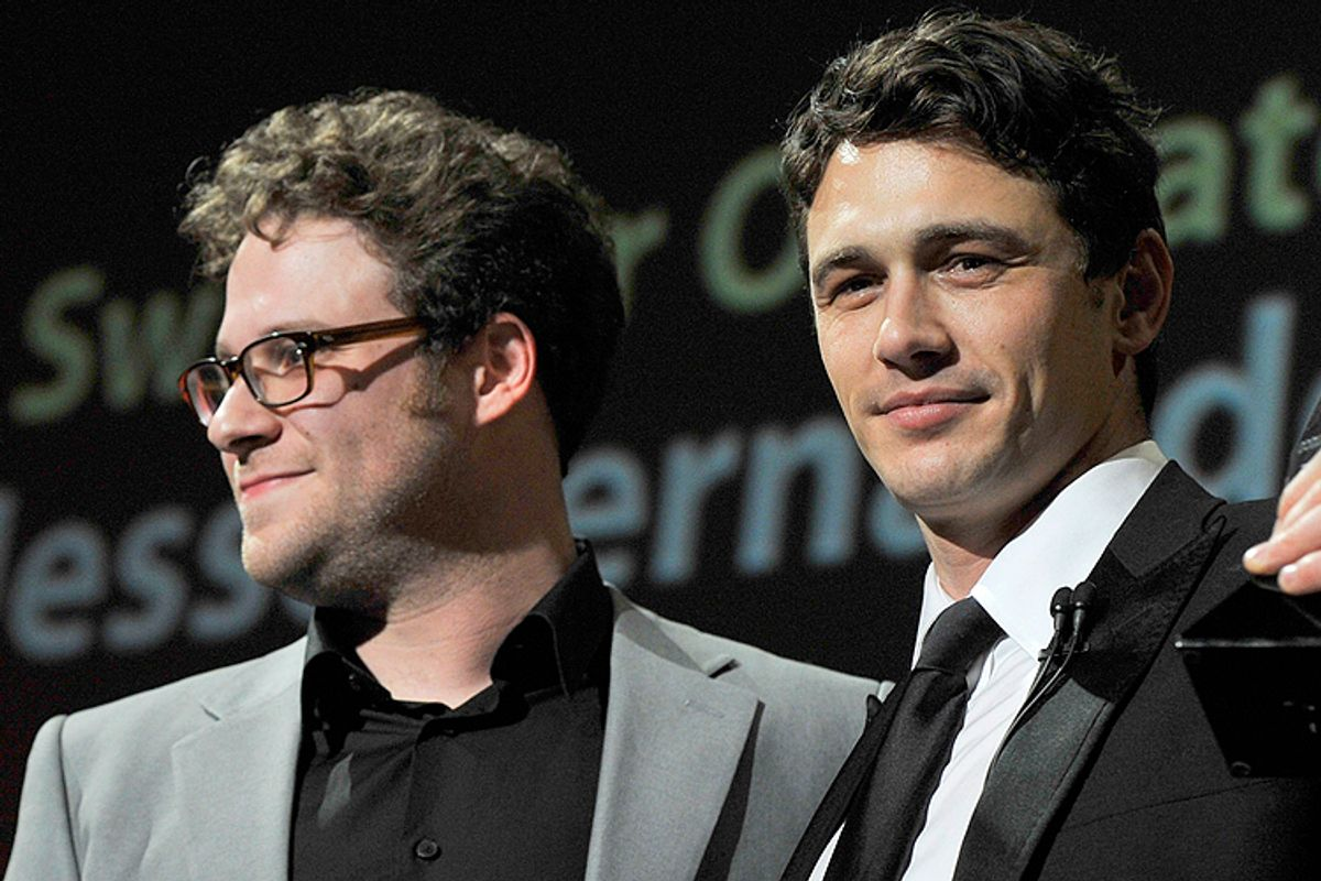 Seth Rogen, James Franco    (AP/Phil Klein)