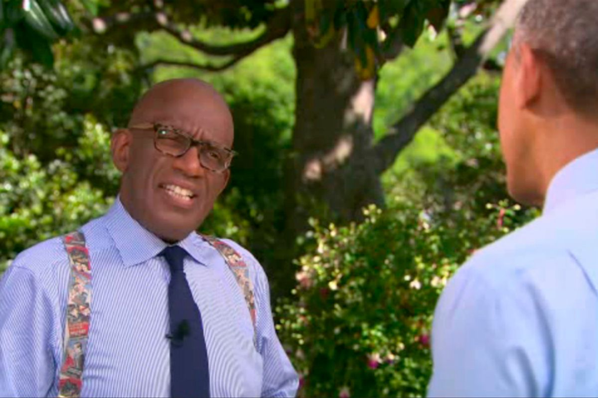 Al Roker interviews Barack Obama on the Today Show, May 7, 2014.            (NBC)