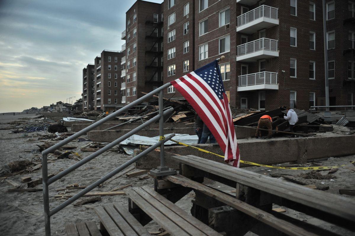 The aftermath of Superstorm Sandy at Rockaway Beach  (Anton Oparin/Shutterstock)