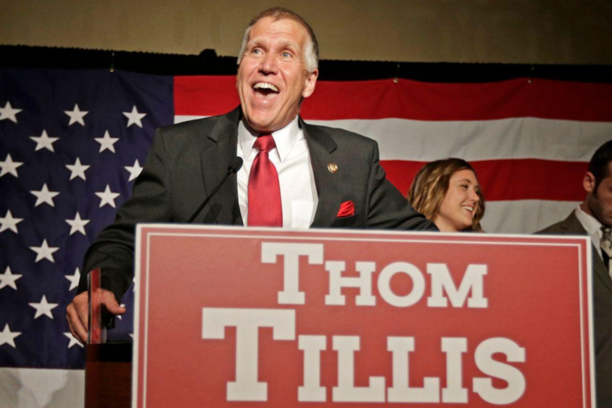 Thom Tillis                         (AP/Chuck Burton)