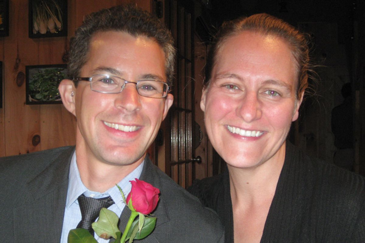 A photo of the author with his wife, Ilona.