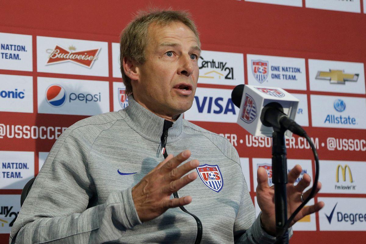 United States soccer coach Jürgen Klinsmann  (AP/Jeff Chiu)