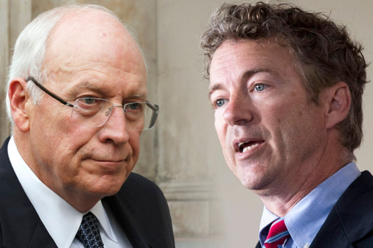Dick Cheney, Rand Paul             (AP/Olivia Harris/Andrew Nelles/Photo collage by Salon)