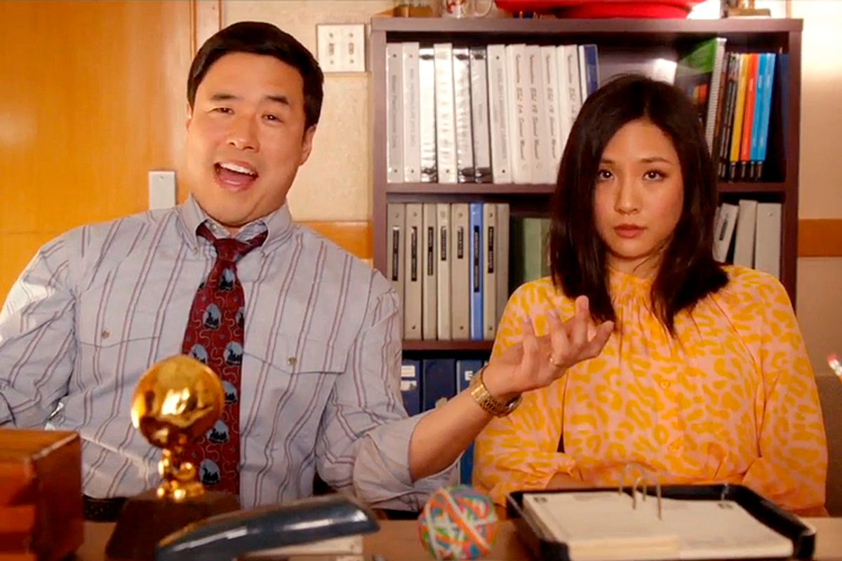 """Randall Park and  Constance Wu in """"Fresh Off the Boat""""      (ABC)"""