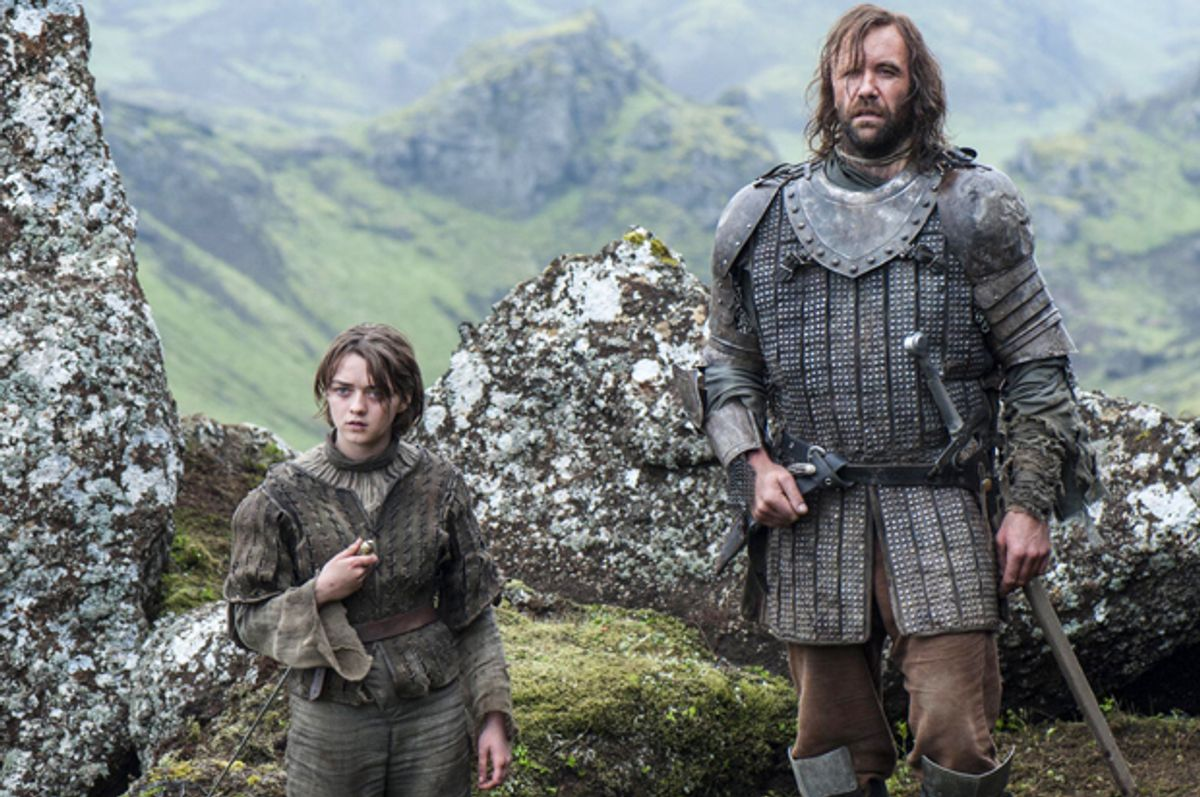 """Maisie Williams and Rory McCann in """"Game of Thrones""""                 (HBO/Helen Sloan)"""