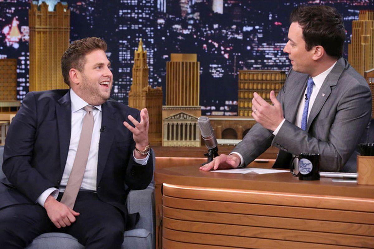 "Jonah Hill on ""The Tonight Show with Jimmy Fallon,"" June 3, 2014      (NBC/Douglas Gorenstein)"