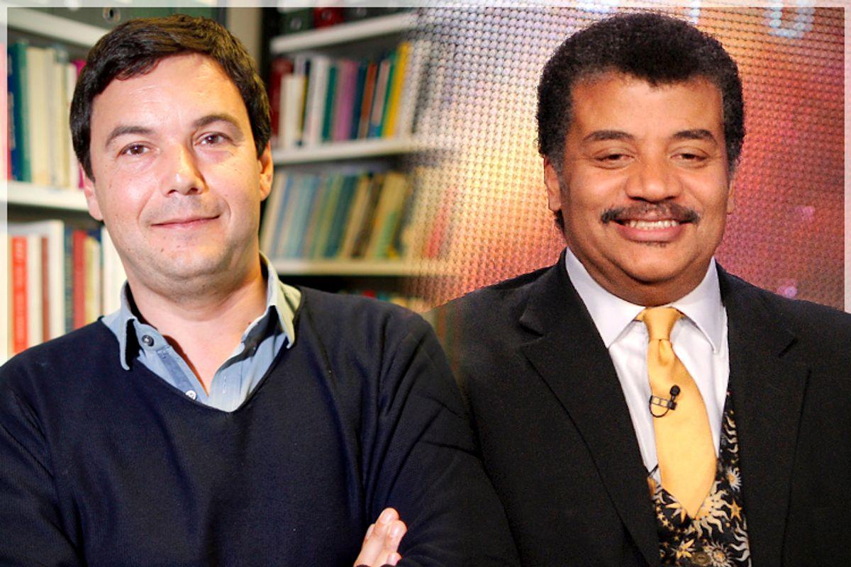 Thomas Piketty, Neil deGrasse Tyson             (Reuters/Charles Platiau/AP/Frank Micelotta)