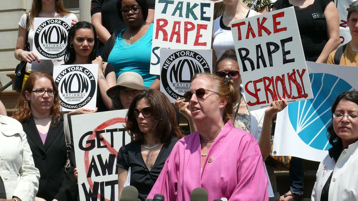 Protesting rape in New York City     (Women's eNews)