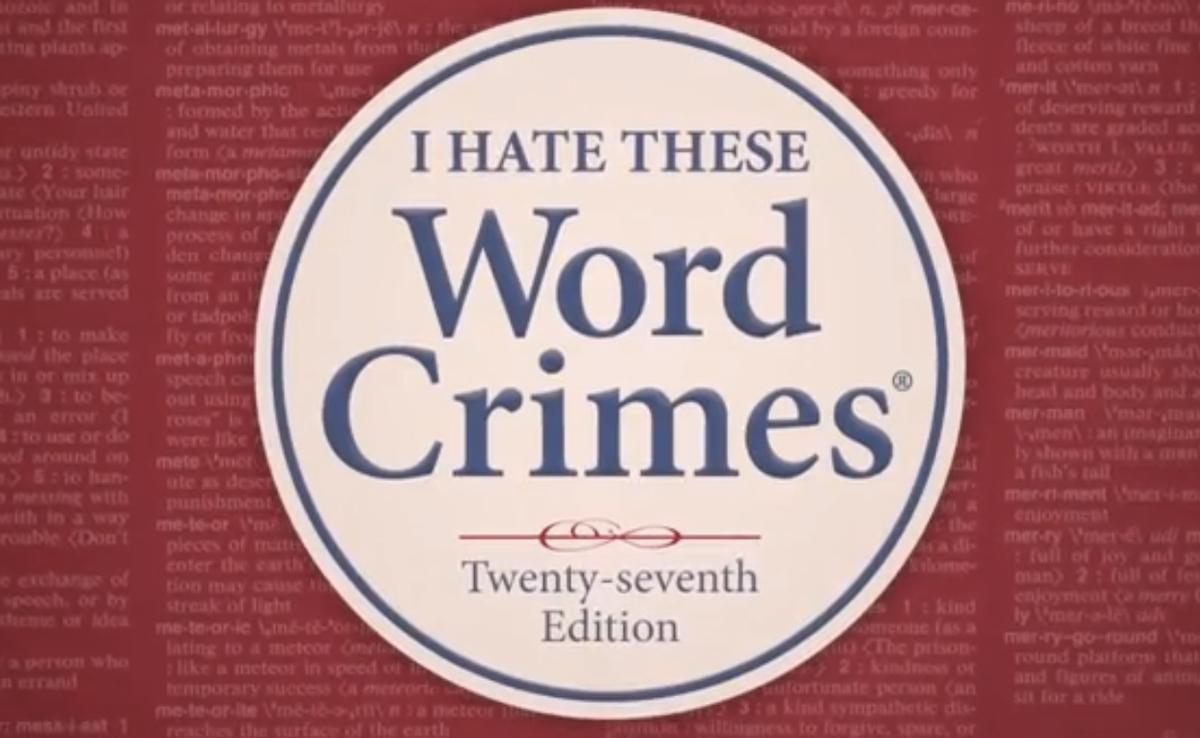 """Weird Al"" Yankovic's ""Word Crimes""   (screenshot)"