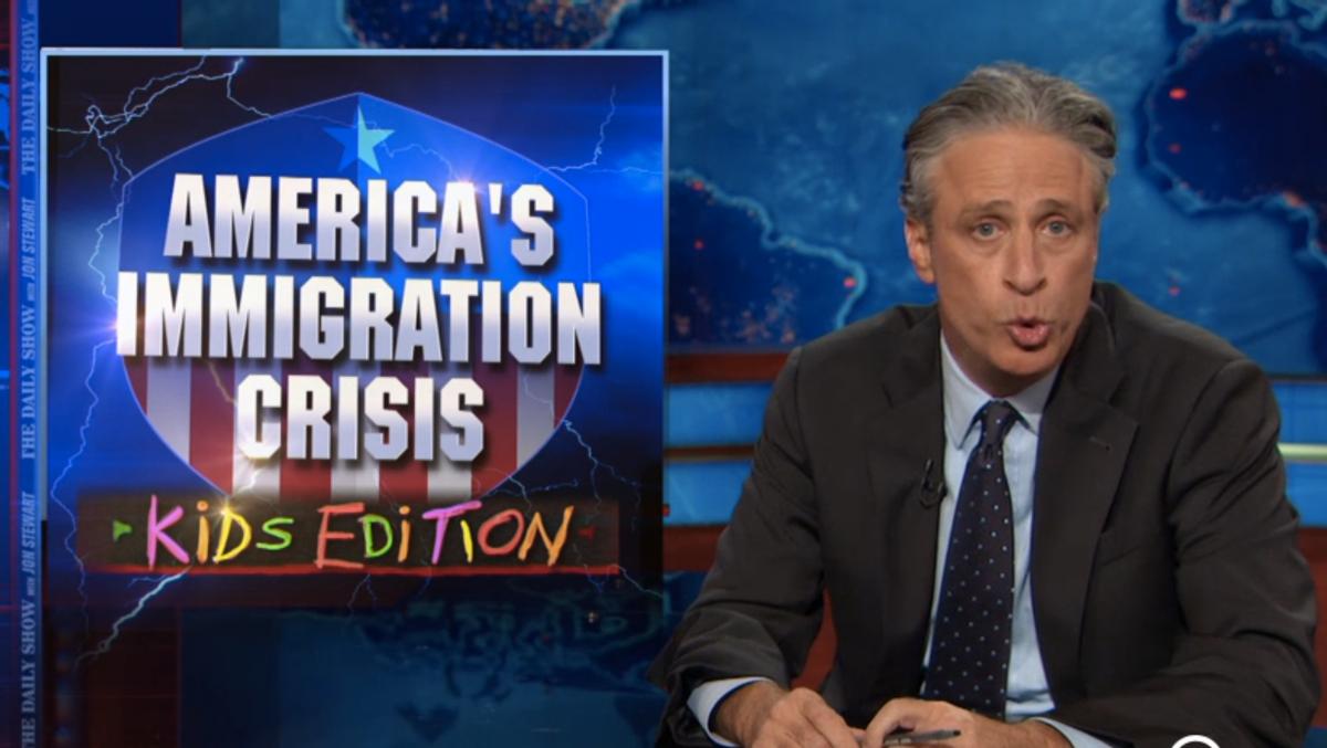 Jon Stewart on America's Immigration Crisis        (screenshot)
