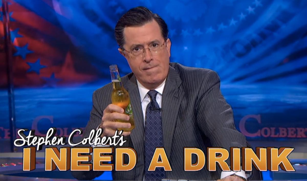 """Stephen Colbert's I Need a Drink""    (screenshot)"