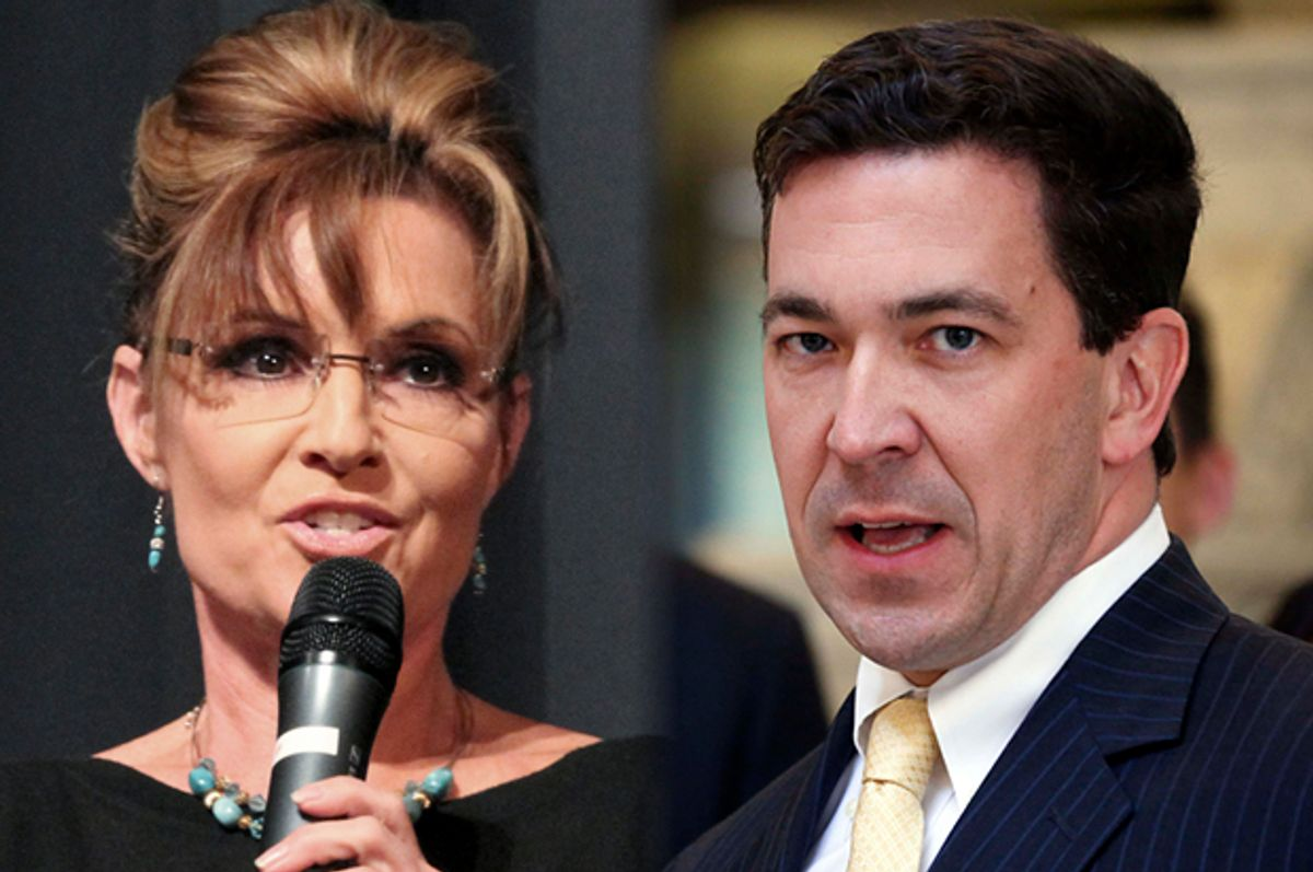 Sarah Palin, Chris McDaniel            (AP/George Clark/Rogelio V. Solis)
