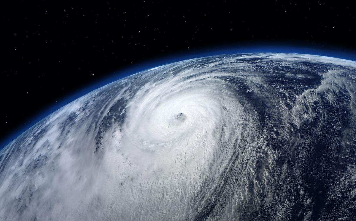 A typhoon as seen from space (Shutterstock)