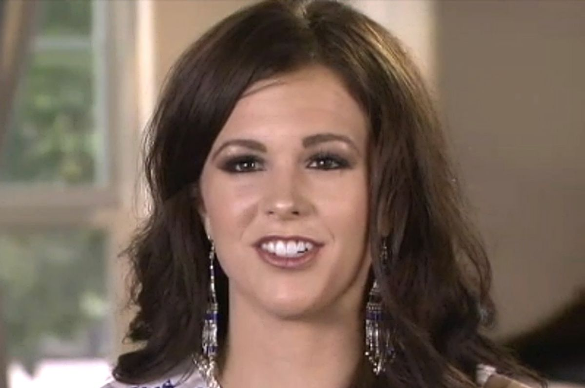Sierra Sandison, the beauty queen who proudly flaunted her diabetes pump  (ABC News)