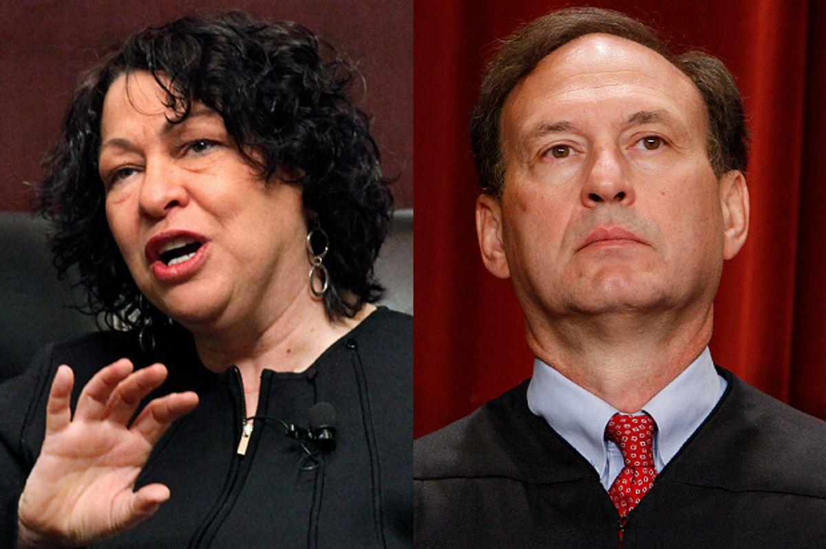 Supreme Court Justices Sonia Sotomayor, Samuel Alito        (AP/Charles Rex Arbogast/Charles Dharapak)