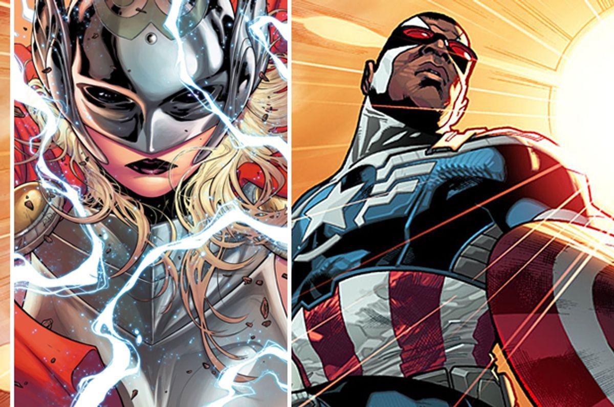 Thor, Captain America          (Marvel Entertainment)