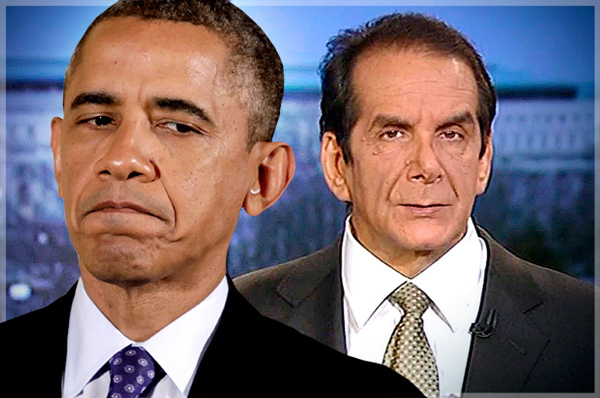 Barack Obama, Charles Krauthammer                 (Reuters/Yuri Gripas/Fox News/Photo montage by Salon)