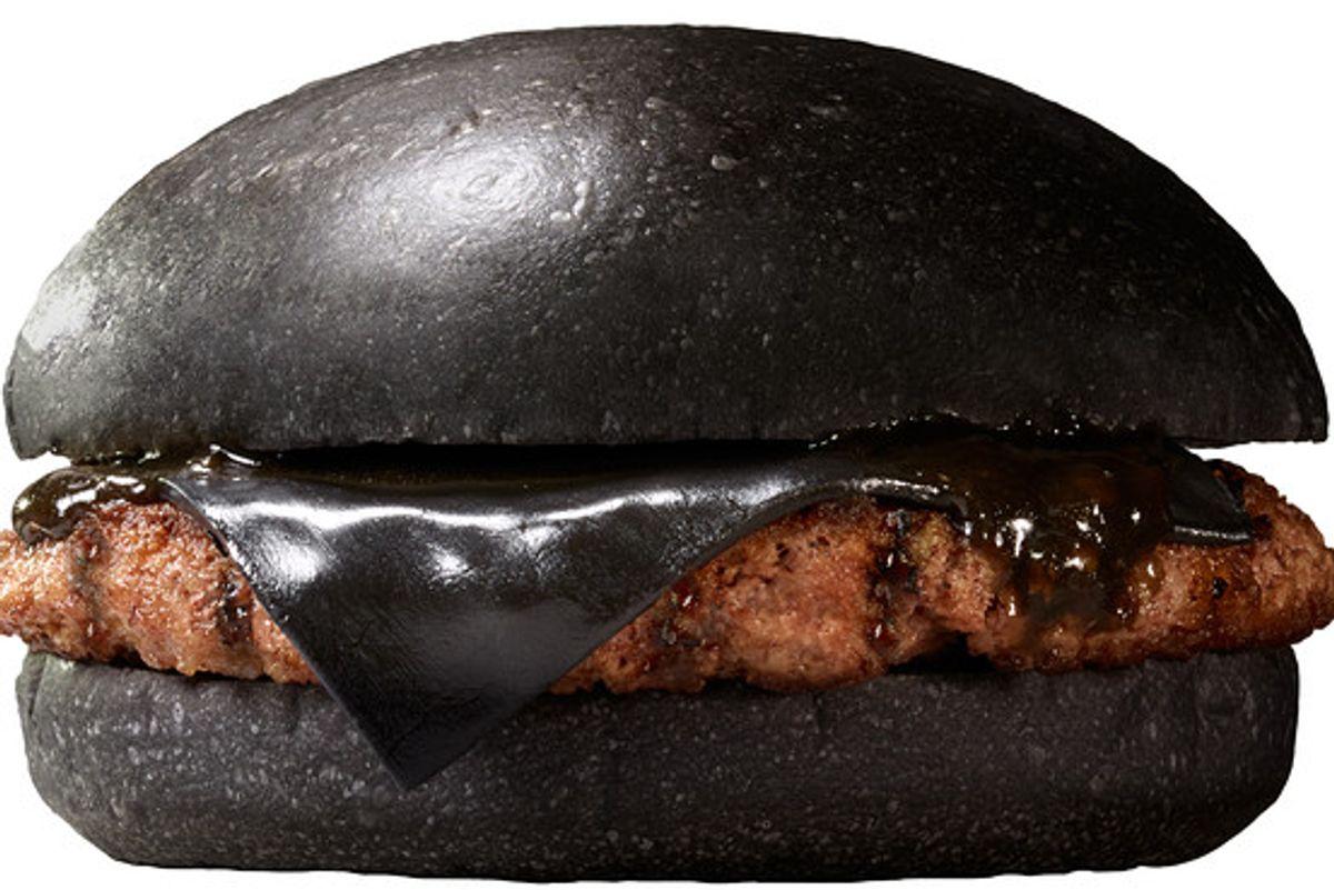 Your beloved black cheeseburger.  (Burger King Japan)