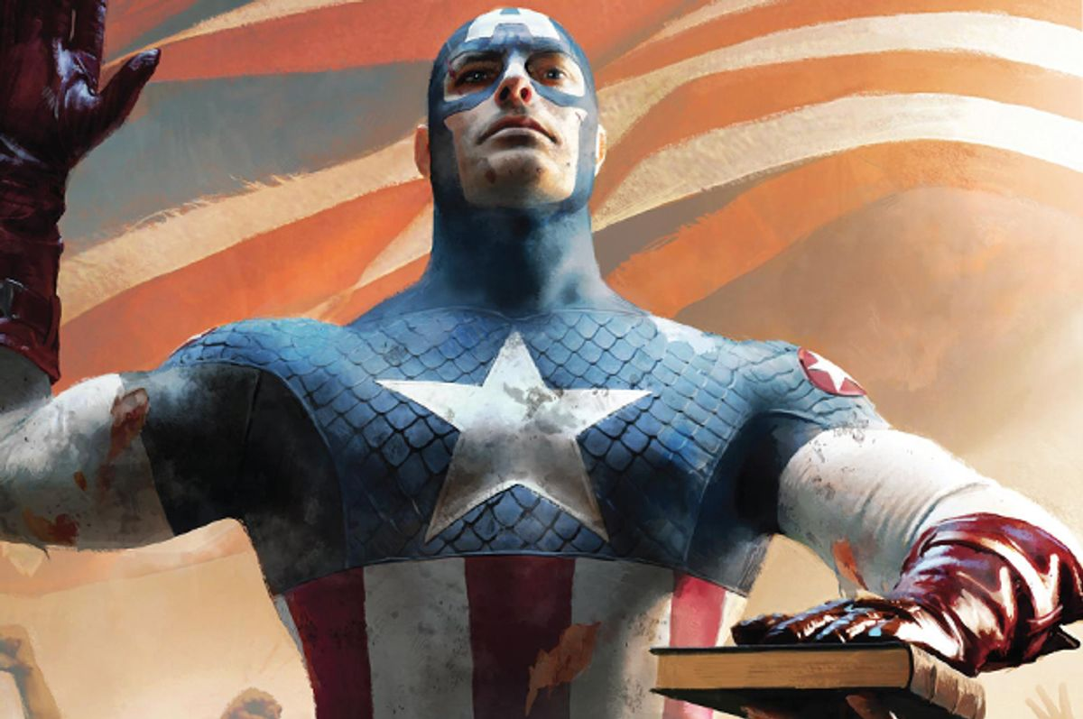 """Captain America is sworn in as President of the United States in """"The Ultimates""""      (Marvel)"""