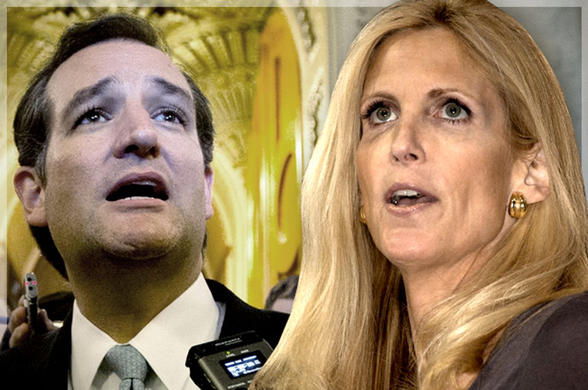 Ted Cruz, Ann Coulter                     (Reuters/Jason Reed/Jeff Malet, maletphoto.com/photo montage by Salon)