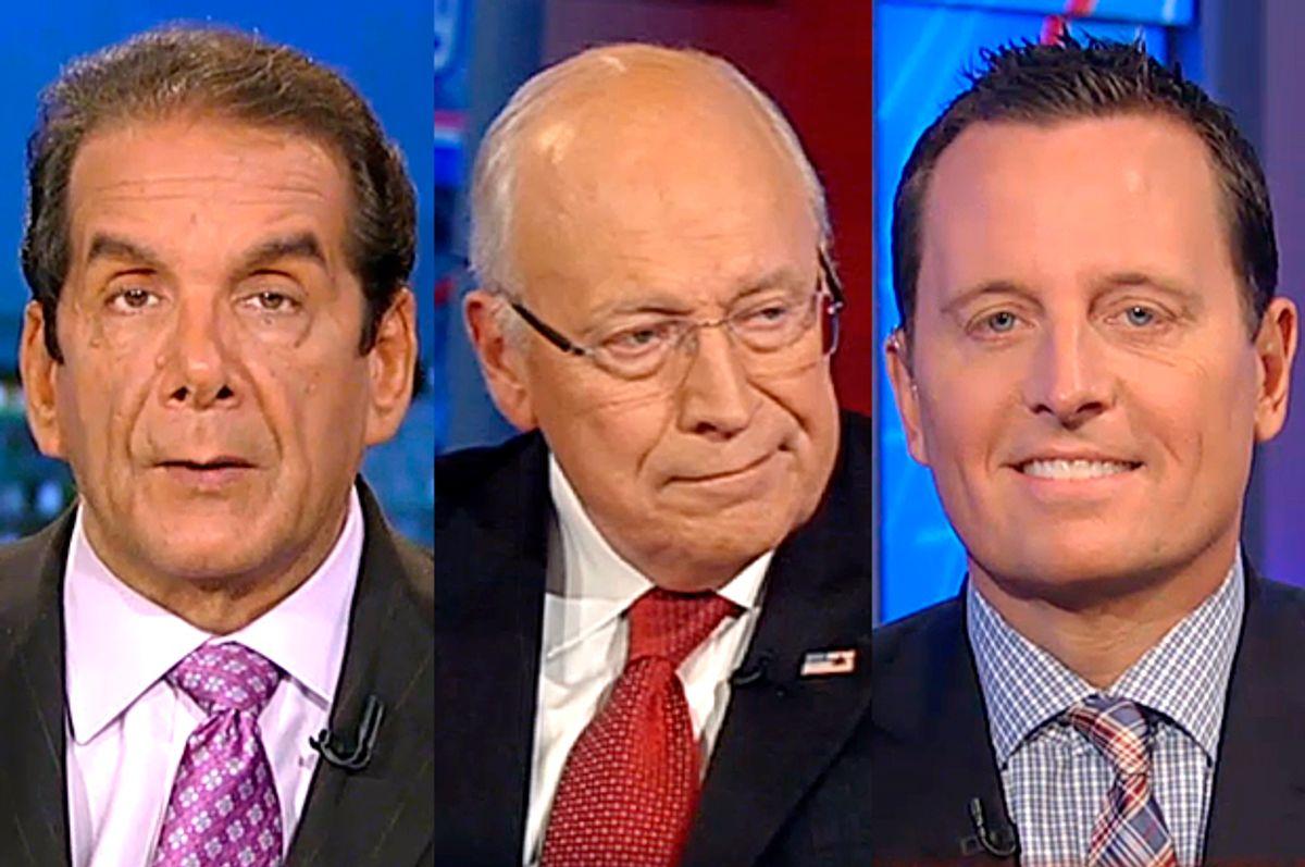 Charles Krauthammer, Dick Cheney, Richard Grenell              (Fox News)