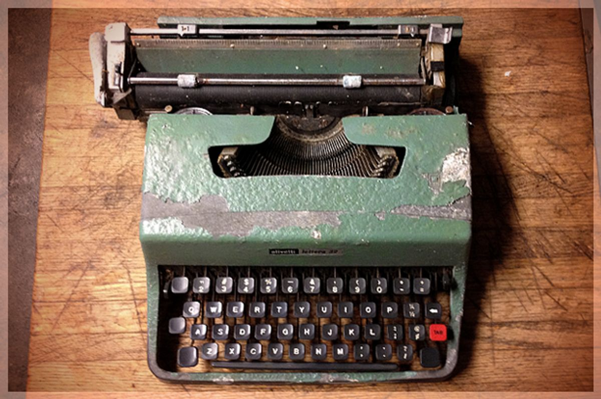 The author's first word-processor.   (Andrew Leonard)