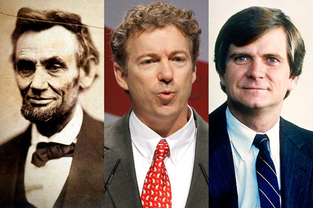 Abraham Lincoln, Rand Paul, Lee Atwater      (AP/Alex Brandon)