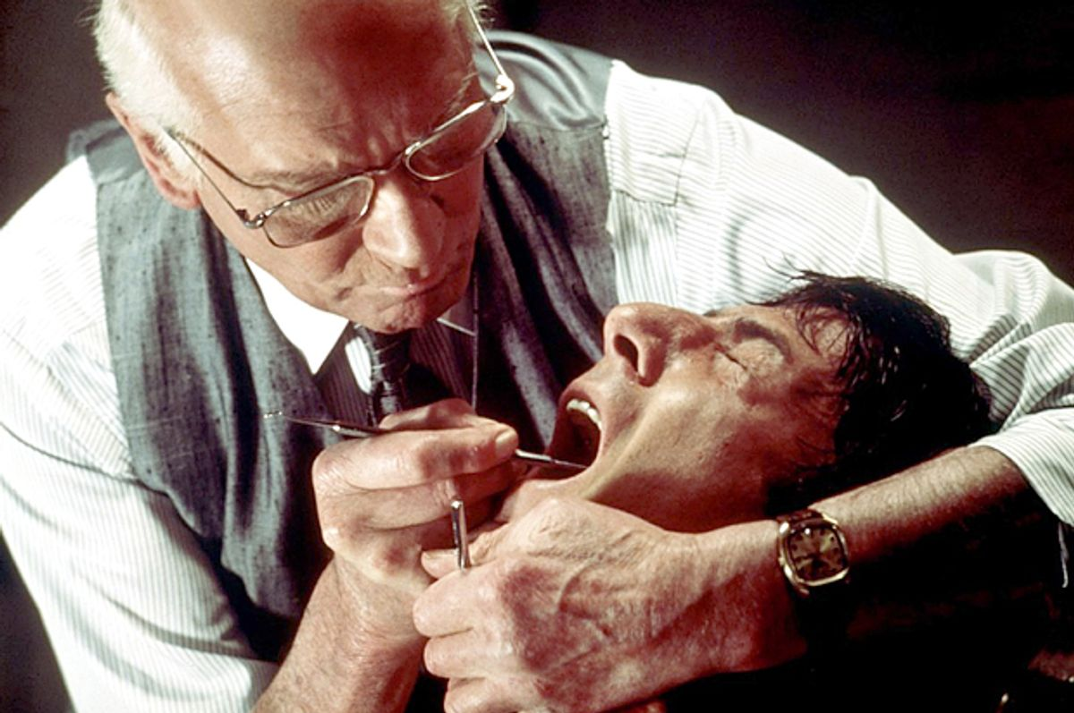 """Laurence Olivier and Dustin Hoffman in """"Marathon Man""""         (Paramount Pictures)"""
