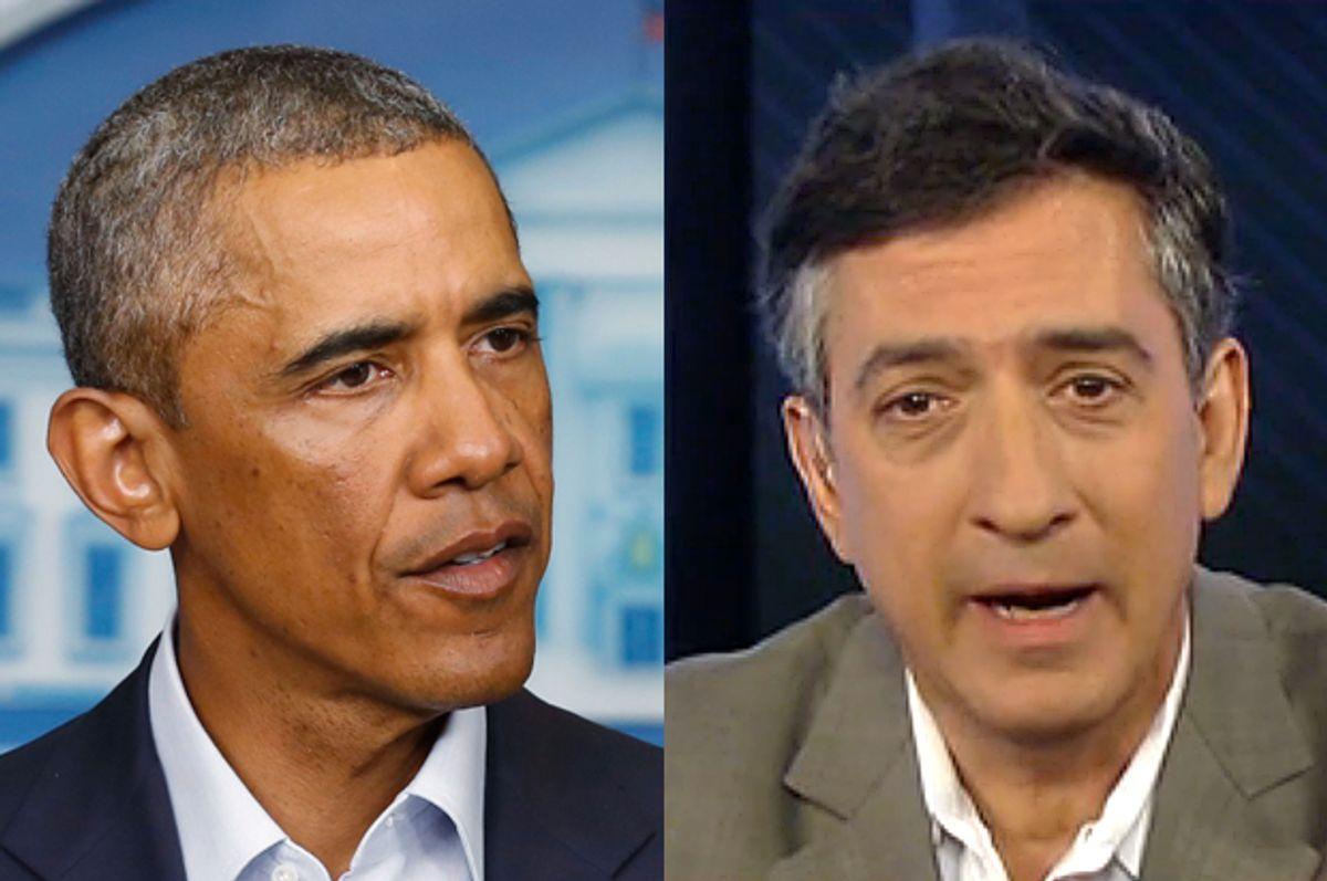 Barack Obama, Michael Tomasky             (Reuters/Larry Downing/MSNBC)