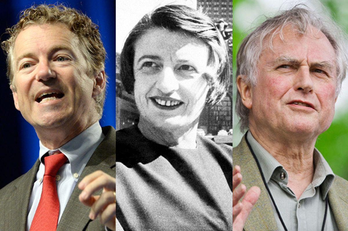 Rand Paul, Ayn Rand, Richard Dawkins                                         (AP/Timothy D. Easley/Reuters/Chris Keane)