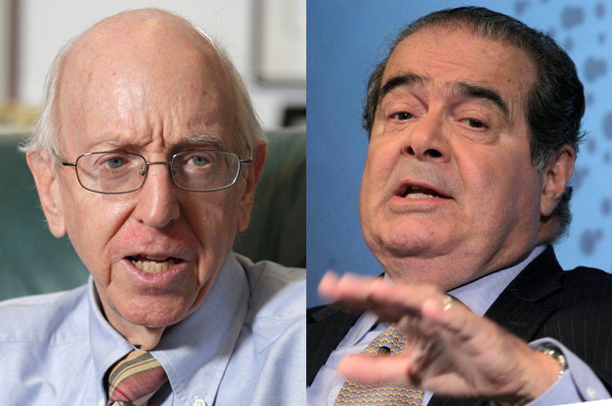 Richard Posner, Antonin Scalia           (Reuters/John Gress/Brendan Mcdermid)