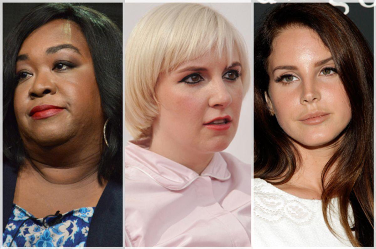 Shonda Rhimes, Lena Dunham, Lana Del Rey      (AP/Richard Shotwell/Andy Kropa)