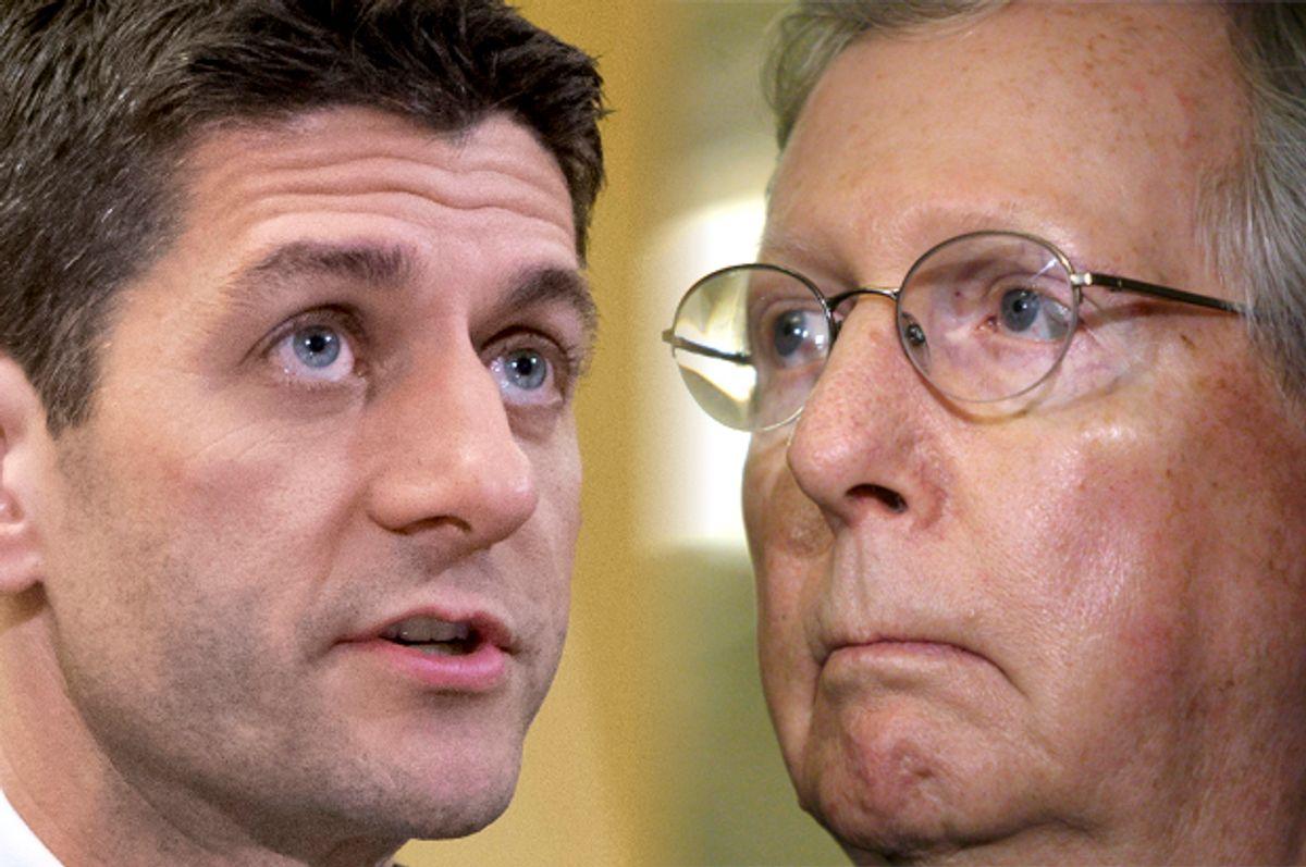 Paul Ryan, Mitch McConnell                (AP/J. Scott Applewhite/Reuters/Jonathan Ernst/Photo montage by Salon)