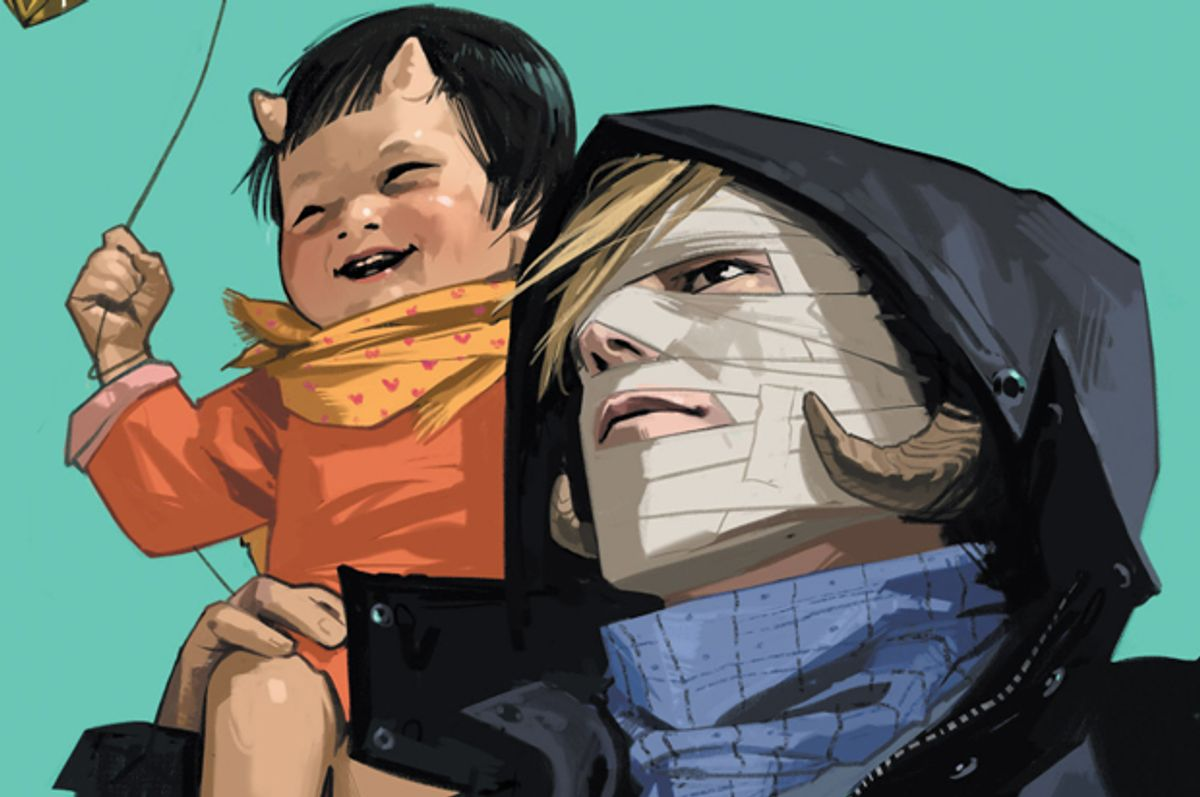 """A detail from the cover of """"Saga Chapter Twenty""""        (Image Comics)"""