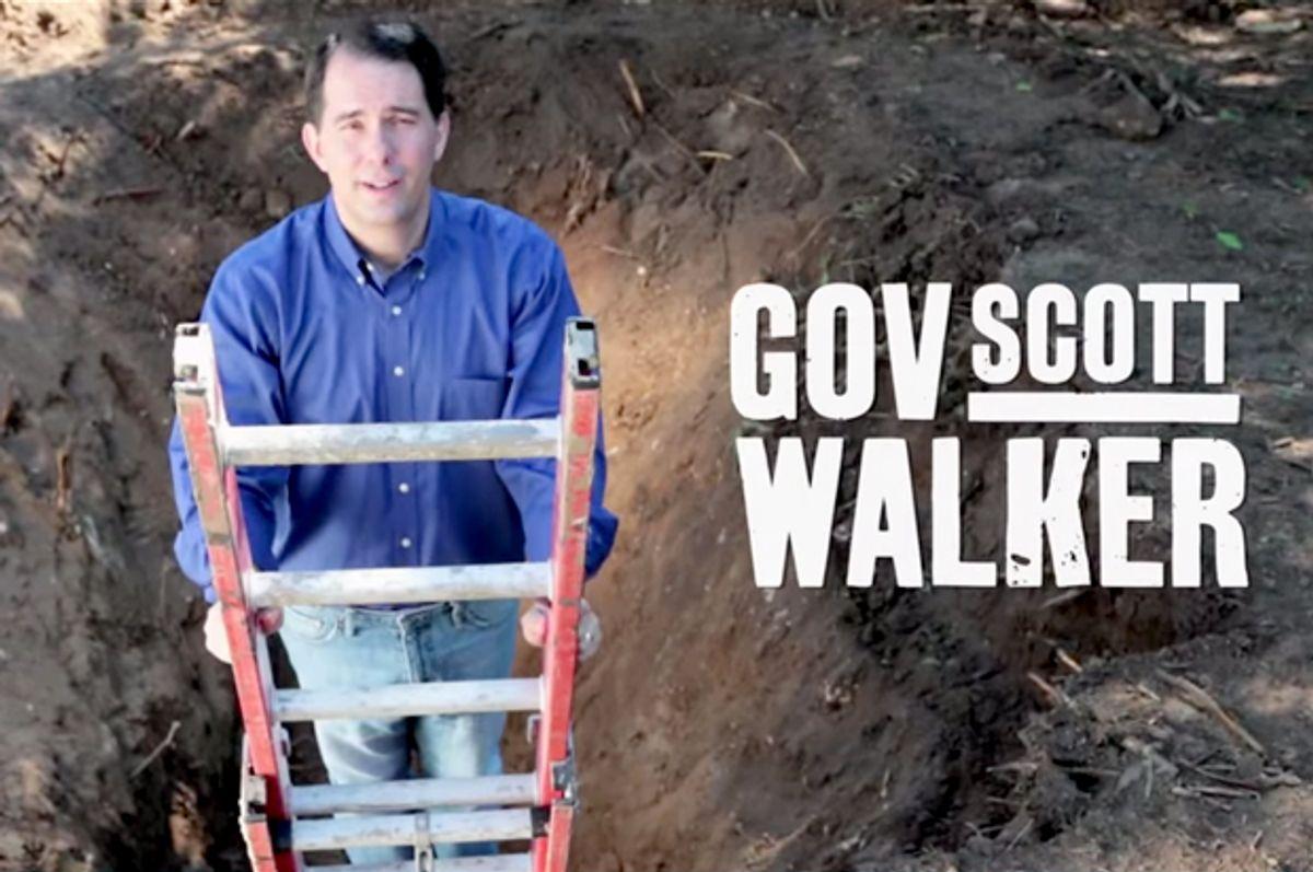 """Scott Walker in his """"Comeback"""" ad.                                        (YouTube/Scott Walker)"""