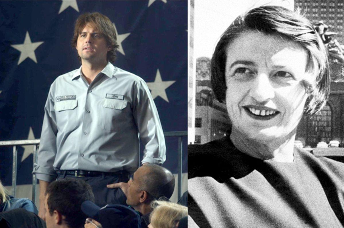 "Kristoffer Polaha as John Galt in ""Atlas Shrugged: Who Is John Galt?"" and Ayn Rand     (Atlas Distribution Company/AP)"